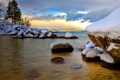 Sand Harbor Boulders in Winter